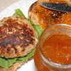 Mustard and Apricot Salmon Burgers