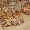 Honey Peanut Butter and Chocolate Chip Cereal Bars