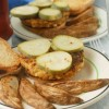 Zucchini Burgers with Quick Pickles