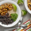 Plantain Black Bean Rice Bowls with Cilantro Pesto