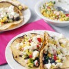 Black Bean Street Tacos with Radish Corn Salsa