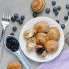 Cream Cheese Earl Grey Ebelskivers with Blueberries
