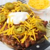 Chili & Cheddar Loaded Baked Potatoes