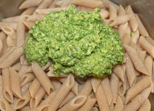 Arugula Pesto with Pasta