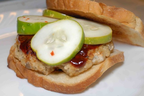 Salmon Burgers with Quick Pickles