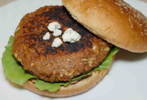 Black and Blue Veggie Burger