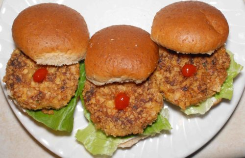 Chipotle Trout Sliders with Sriracha