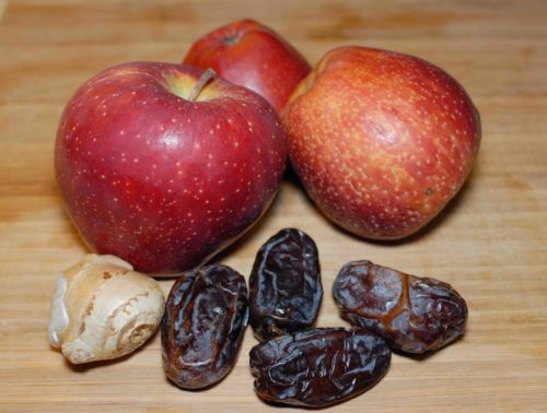 Apple date chutney ingredients