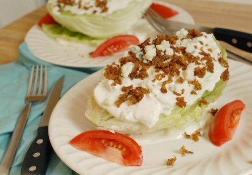 Blue Cheese Wedge Salad with Veggie Bacon