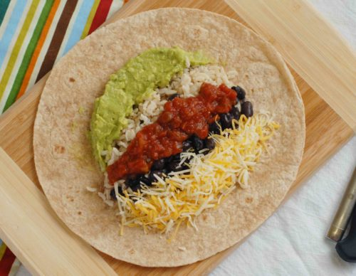 Variations on the Guacamole Black Bean Burritos recipe: