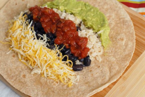 Black Bean And Guac Burrito Recipe — Dishmaps