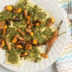 Carrot Top Pesto Ravioli with Grilled Carrots