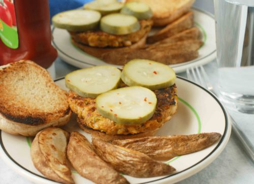 Zucchini Burgers with Quick Pickles 2