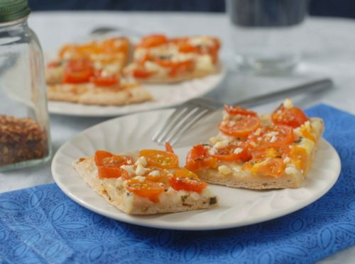 Herb Cherry Tomato Pizza