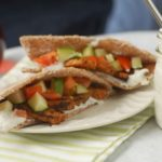 Tempeh Gyros with Cucumber Tzatziki