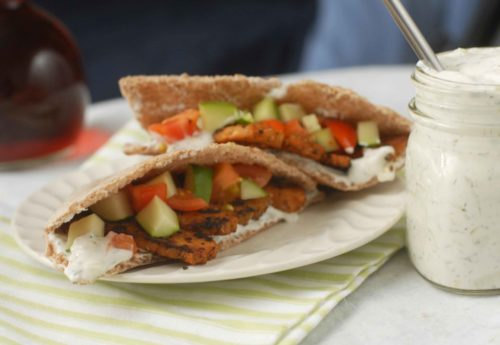 Tempeh Gyros with Tzatziki