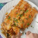Zucchini Corn and Bean Enchiladas