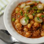 One Pot Spanish Wheat Berries with Chickpeas and Olives