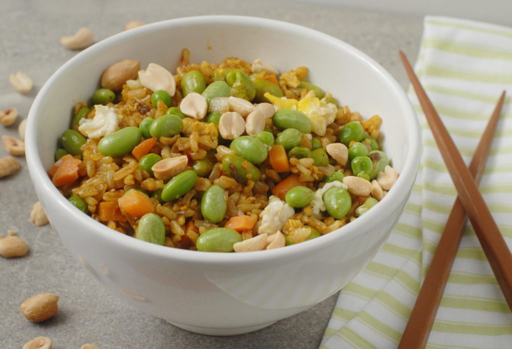 Turmeric Fried Rice with Edamame By Alison's Allspice
