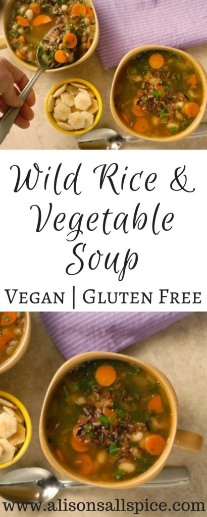 Wild Rice and Vegetable Soup By Alison's Allspice