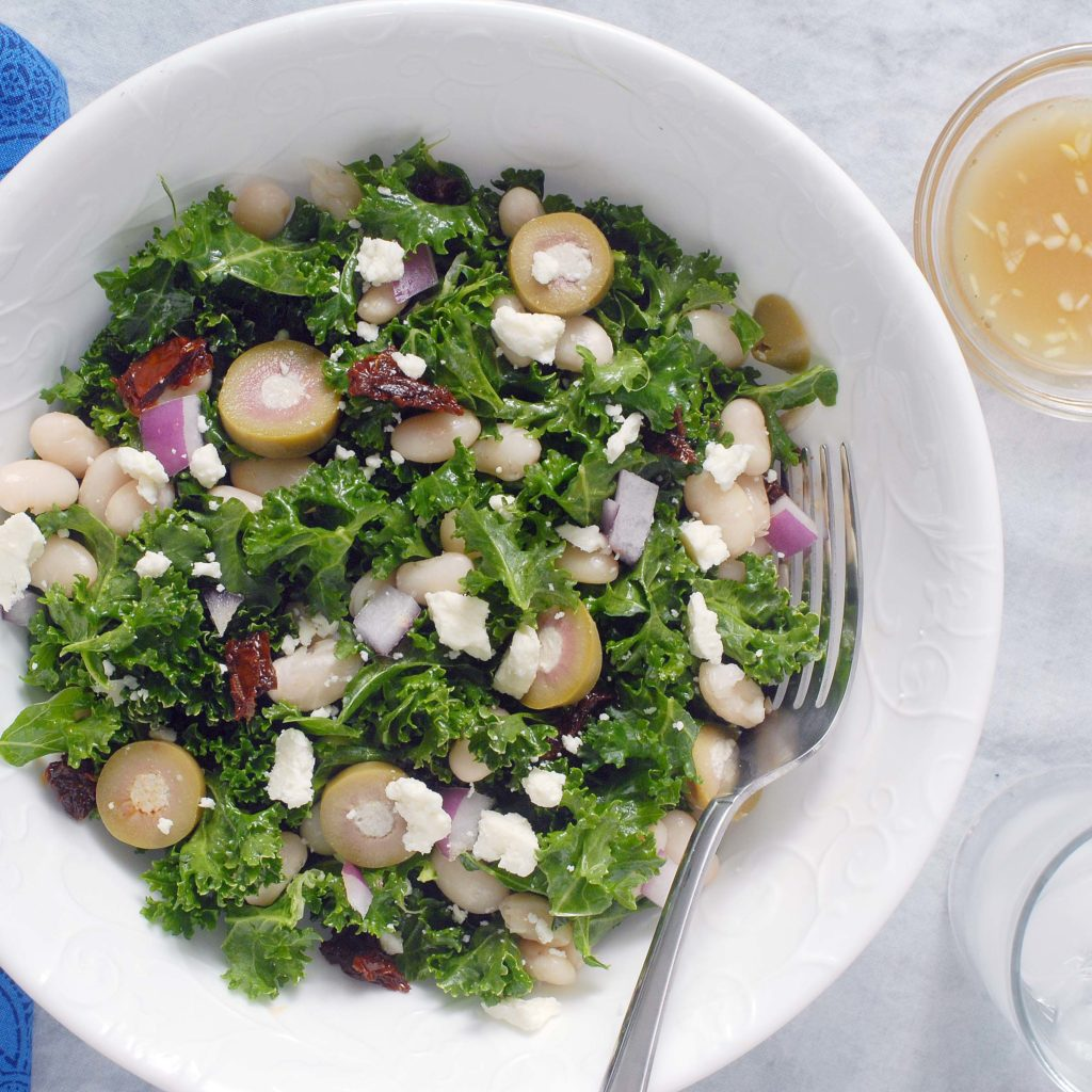 Simple Mediterranean Kale Salad By Alison's Allspice