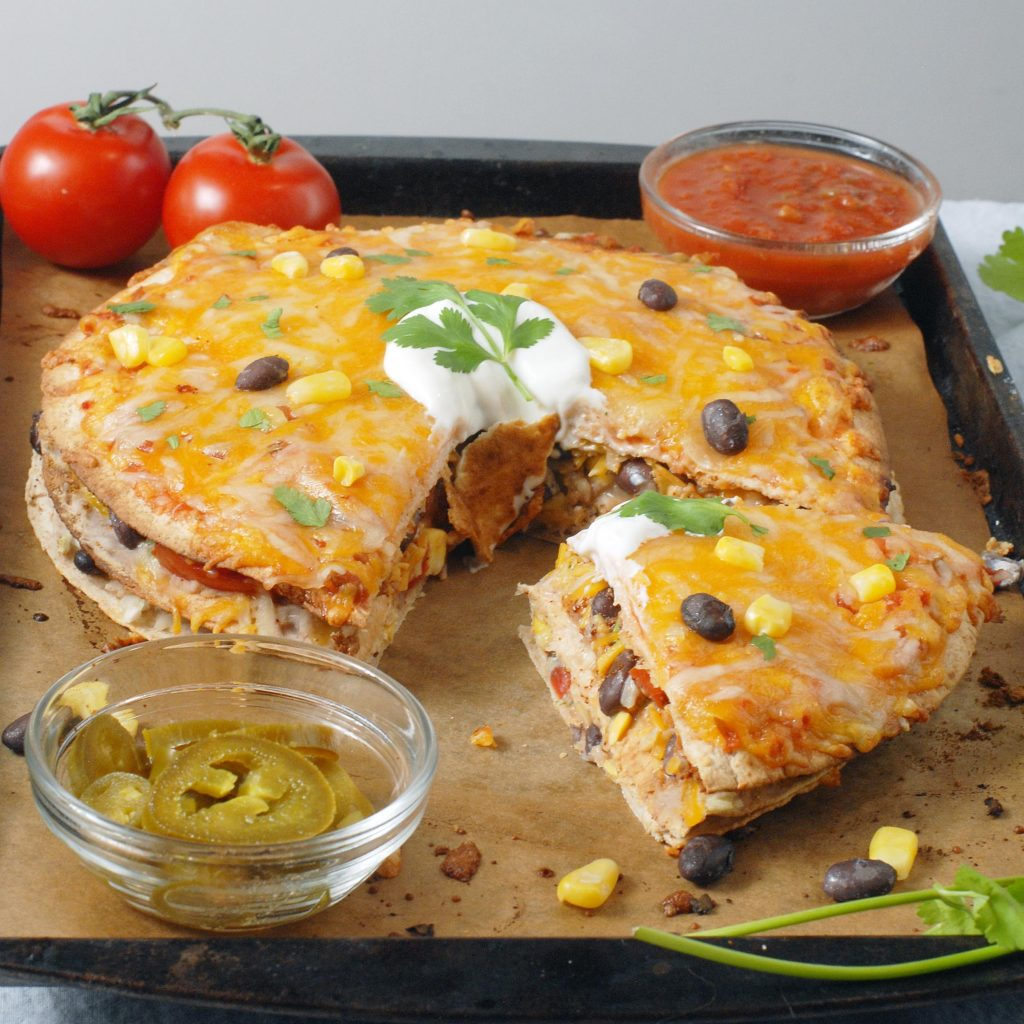 Tex-Mex Black Bean Tortilla Pie by Alison's Allspice