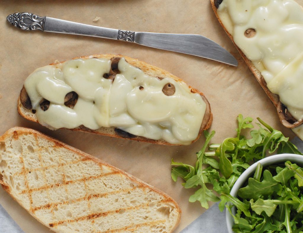 Mushroom Swiss Sandwich Melts with Arugula by Alison's Allspice