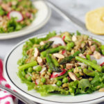 Lentil Salad with Asparagus and Radish