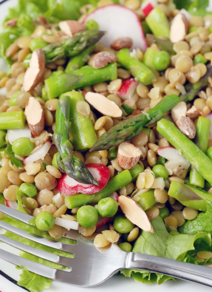 Lentil Salad with Asparagus and Radish by Alison's Allspice