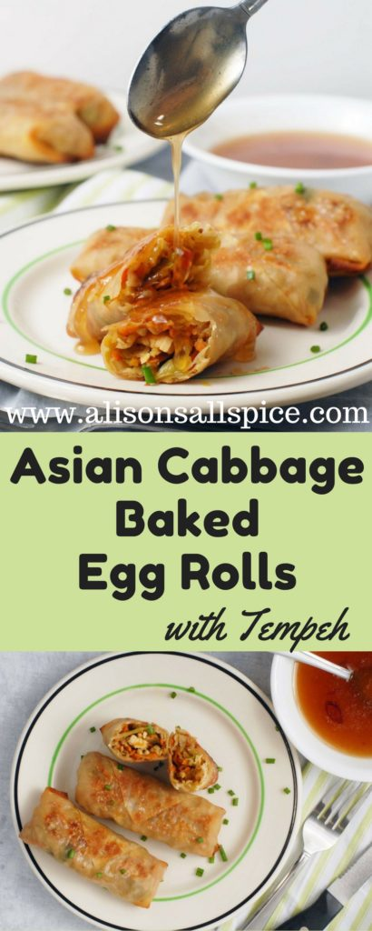 These baked egg rolls are a great meatless main dish that will satisfy the whole family. Try them with your favorite dipping sauce!
