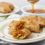 Asian Cabbage Baked Egg Rolls with Tempeh