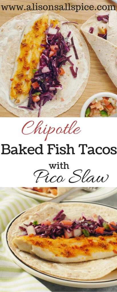 Fish tacos are my favorite way to enjoy fish, and these chipotle baked fish tacos are no exception! They are healthy and quick, as well as delicious!