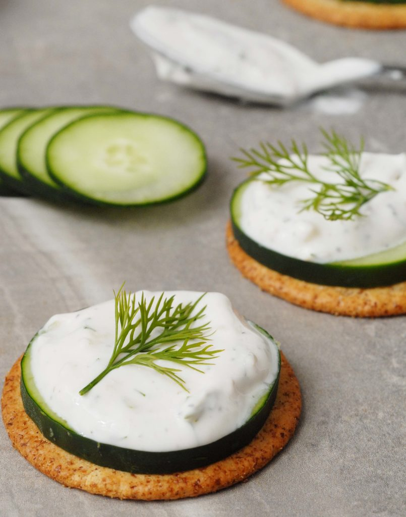 Tzatziki Cucumber Dill Crackers by Alison's Allspice
