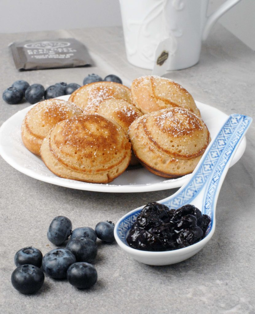 Cream Cheese Earl Grey Ebelskivers with Blueberries by Alison's Allspice
