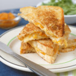 Gouda Grilled Cheese with Apricot Ginger Spread