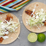 Spicy Blackened Fish Tacos with Lime Crema