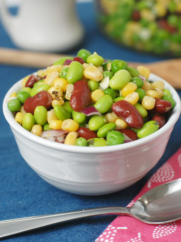 Edamame Corn Salad with Apple Cider Vinaigrette by Alison's Allspice