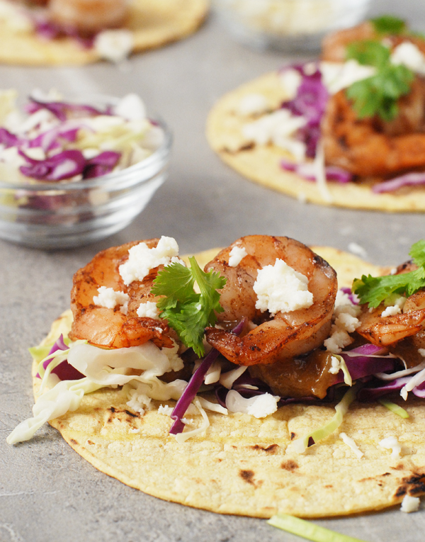 Five Spice Shrimp Tacos with Rhubarb Ginger Sauce by Alison's Allspice