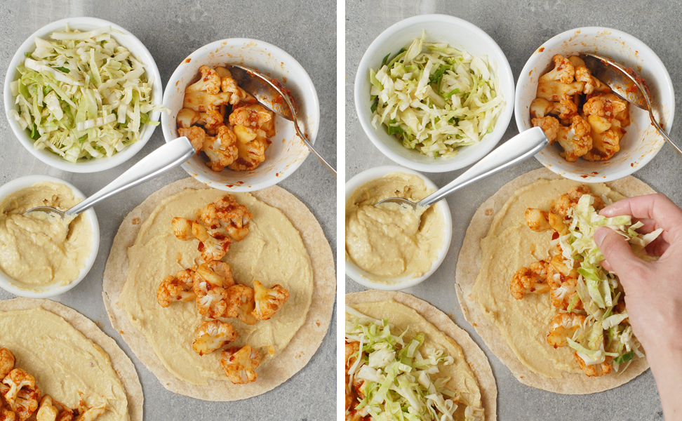 Chipotle Cauliflower Hummus Tacos with Cumin Slaw by Alison's Allspice