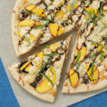 Peach Basil Pizza with Balsamic Drizzle