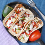 Tempeh Gyro Tacos with Cucumber Salsa