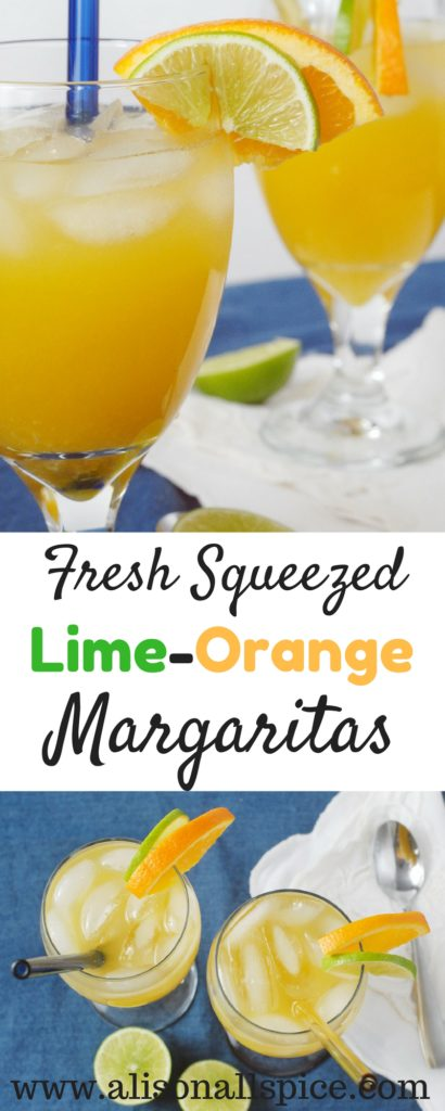 Try sipping a cold, fresh squeezed lime orange margarita, and you'll never go back to the bottled mixer!   Fresh juice makes a perfect mixer for margaritas!