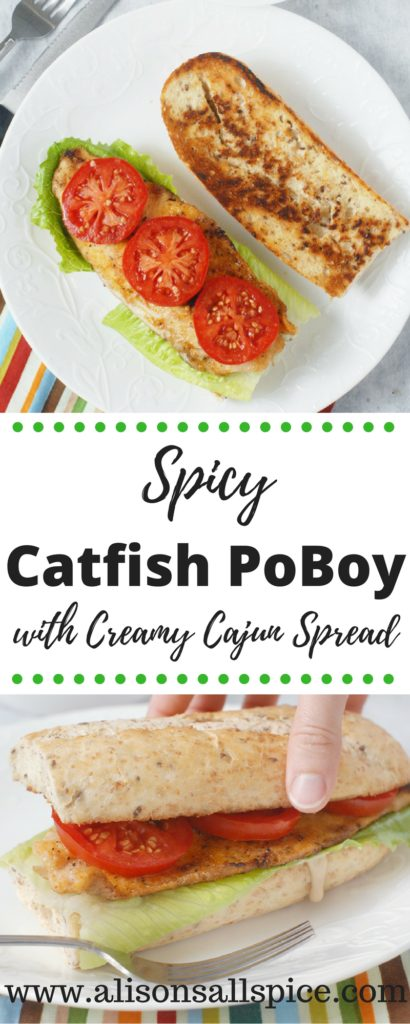 There are three components that make these spicy catfish poboys with creamy cajun spread great!  Good bread, quality fish seasoned simply, and a bold spread!