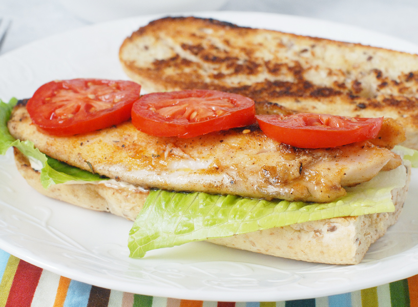 Spicy Catfish PoBoys with Creamy Cajun Spread