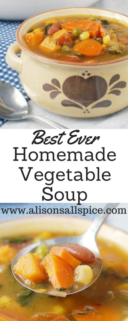 Veggie soup doesn't always need a recipe, but it does need a plan. Mine is the best ever homemade vegetable soup because the plan is adaptable (and tasty!).