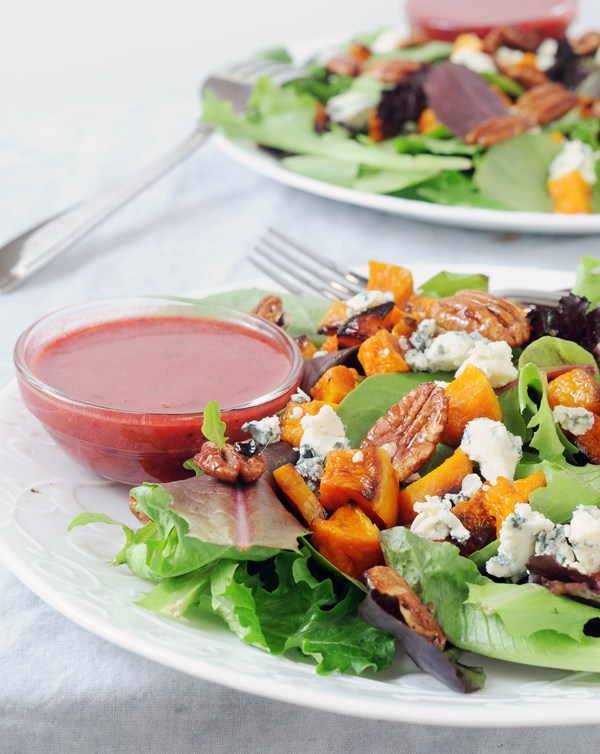 Holiday Butternut Pecan Salad with Berry Vinaigrette by Alison's Allspice