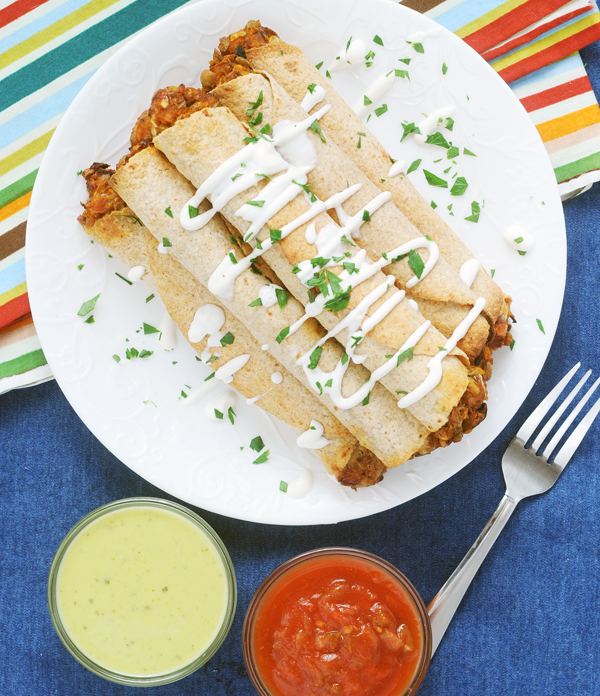 Chipotle Sweet Potato Lentil Taquitos by Alison's Allspice