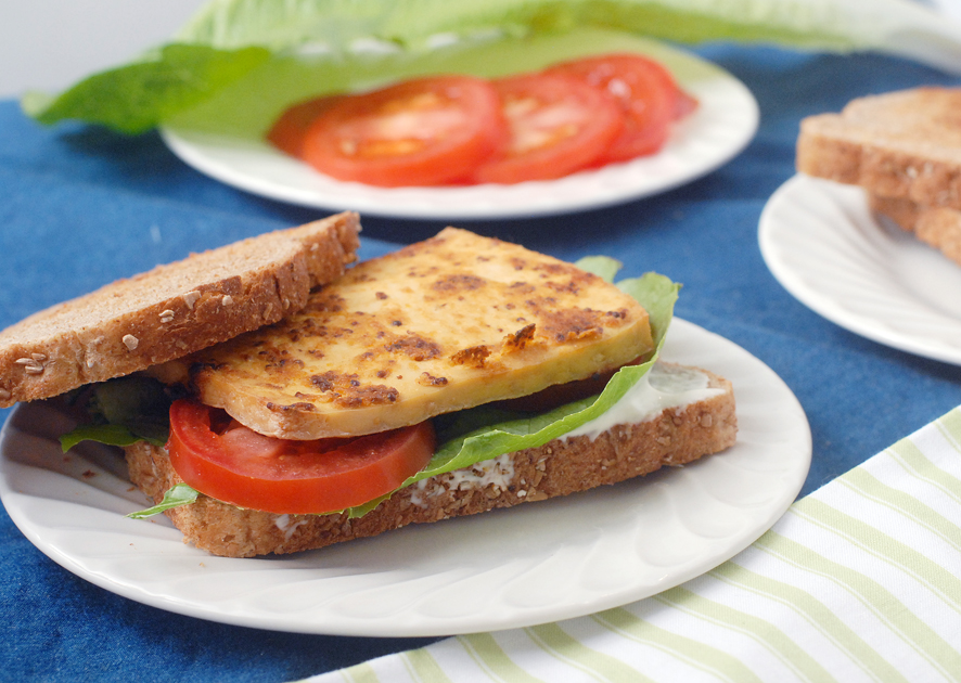 Chinese Mustard Baked Tofu Sandwiches by Alison's Allspice
