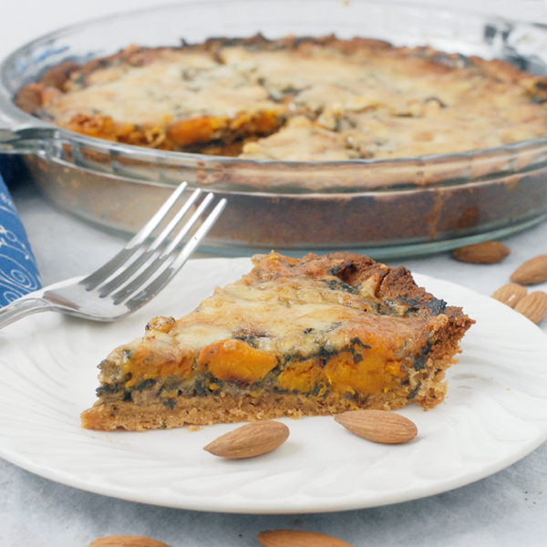 Butternut Squash Spinach Pie with an Almond Crust by Alison's Allspice