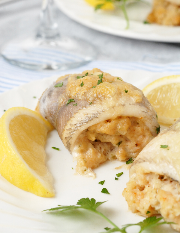 Crab and Shrimp Stuffed Trout Fillets by Alison's Allspice